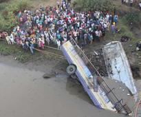Bus tragedy: Toll rises to 41 including 21 women, CM may visit Navsari