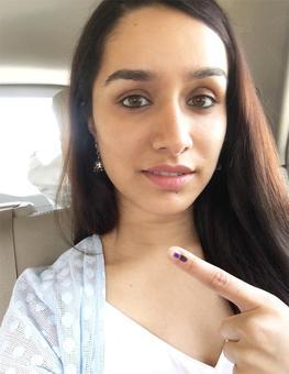 PIX: Shraddha, Ranveer, Anushka cast their vote
