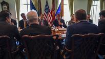 Lieberman in Washington to discuss military aid