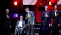 Five former US presidents come together for hurricane relief concert