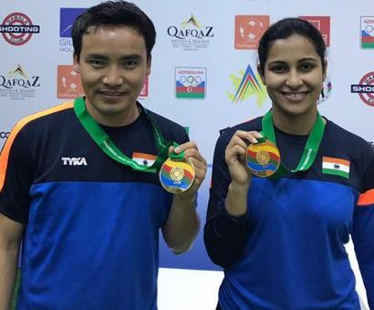 Sports shorts: Jitu, Heena strike gold in mixed team event