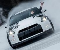 Nissan GT-R Powers Up Ski Hill