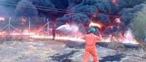 Militant group Set Ablaze NPDC  pipeline in Delta
