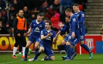 Seamus Coleman celebrates becoming a dad for the first time with Everton goal