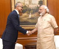 Microsoft's Nadella pumps Modi's Digital India