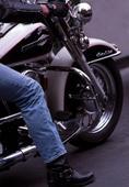 Man stealing motorbikes during test rides