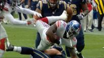 NY Giants' four interceptions play key role in win over LA Rams in London