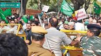 Police lathi-charge INLD supporters protesting over SYL canal issue