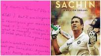 Six-year-old fan's letter to Sachin