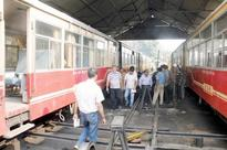 Railway officials give surprised check at Kalka railway station