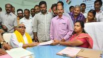 DMK President Karunanidhi Files Nomination From Tiruvarur