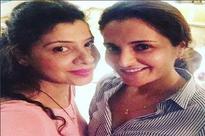 Fomer Bigg Boss contestants Sambhavna Seth and Monica Bedi's day out
