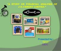 A  study  on  financial  analysis  of  jk cement limited