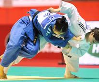 Women's judo 70kg podium