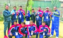 Sopore Police team shines in State Kick Boxing Cship