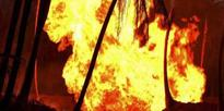 Fire crackers godown gutted in fire in Gurgaon