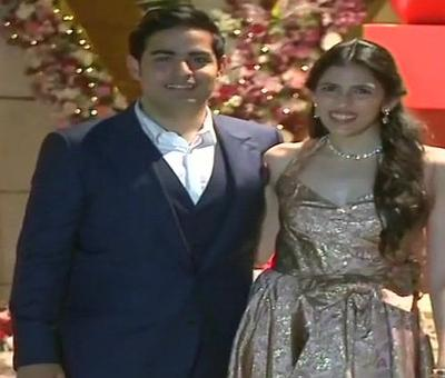 Akash Ambani's engagement party at Antilia