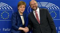 Nicola Sturgeon in Brussels bid to keep Scotland in EU