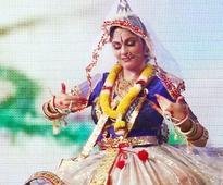 Gracy Singh trains in Manipuri dance