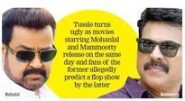 Kerala movie world: mega ms's fans wage star wars