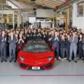 Lamborghini Aventador hits 5,000  twice the sale rate of the Murcielago