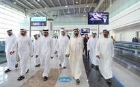 Mohammed inspects concourse D building