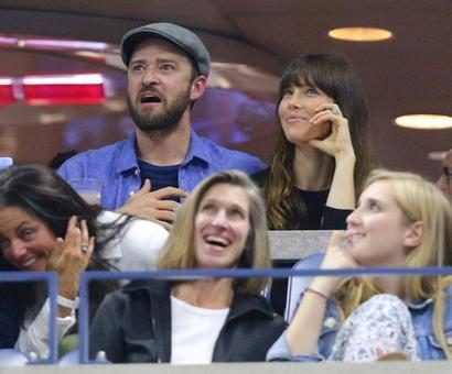 Celebrities hit the US Open courts