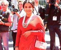 Disaster? Vidya brings back the schoolmarm look at Cannes