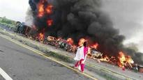 140 burnt alive as oil tanker explodes in Pakistan