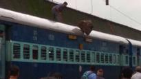 Lonavla: Boulder crashes down on train, three passengers hurt