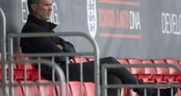 Roy Keane watches Barcelona training session