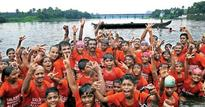 87 children swim across the widest stretch of Periyar