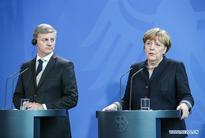 Merkel attends joint press conference with New Zealand counterpart in Berlin