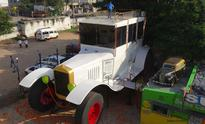 Sudhakar attempts another record by designing 26-ft tall car in Hyderabad