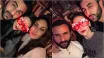 See Pictures: Yummy Mommy Kareena Kapoor rings in the New Year with hubby Saif and sister Karisma