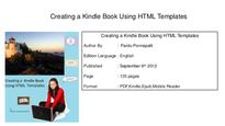 Creating a kindle book using html templates pdf book