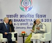 PM Modi meets Frace's Foriegn Minister at Pravasi Bharatiya Diwas, seeks to bolster ties with Paris