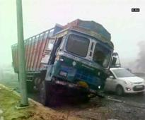 Four killed as cars collide due to dense fog on NH-1