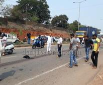 Mangaluru: Lady dies on spot in accident near KPT; MLA Bava to the rescue