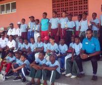 30 At Scotia bank Kiddy Cricket Camp In Vieux Fort