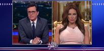 'Melania Trump' Appears on Stephen Colbert in Hilarious Parody Interview