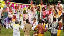 Jaipur: Tourists take a Holi ride on PoW