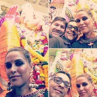 PIX: Neha Dhupia, Manish Paul visit Lalbaug Ganpati