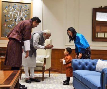 Bhutanese King meets PM Modi