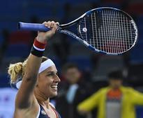 On-form Kvitova beats Halep to reach Wuhan final