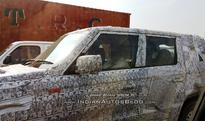Longer-wheelbase Mahindra TUV300 spied; launch in India likely in 2017