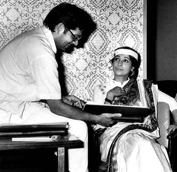 #InstaStories: Gulzar and Suchitra Sen