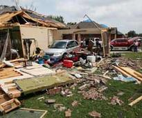 Tornadoes hit US states killing at least one