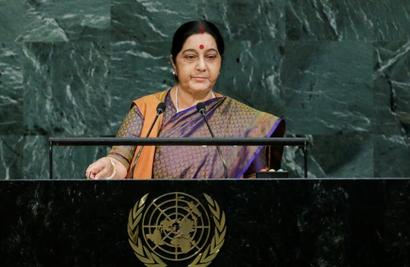 There's terrorism in Pak, but not state-sponsored: Chinese media on Swaraj's UNGA address