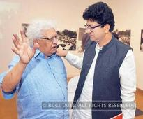 Prasoon Joshi attends an exhibition on Partition in Delhi